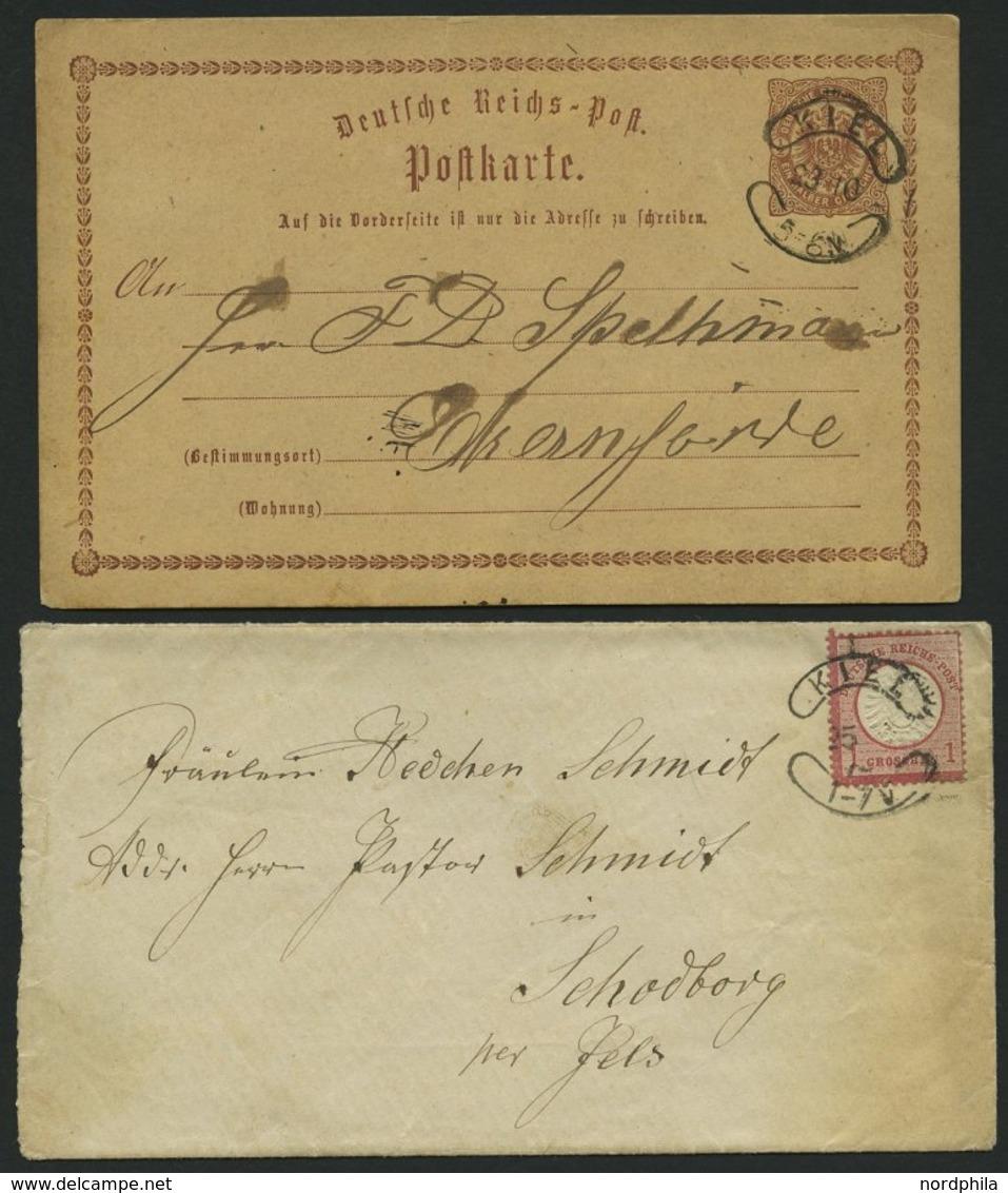 SCHLESWIG-HOLSTEIN NDP,DR BRIEF, KIEL, Sog. Wurststempel, 4 Verschiedene Belege (NDP, DR Und Dienstbrief), Pracht - Schleswig-Holstein