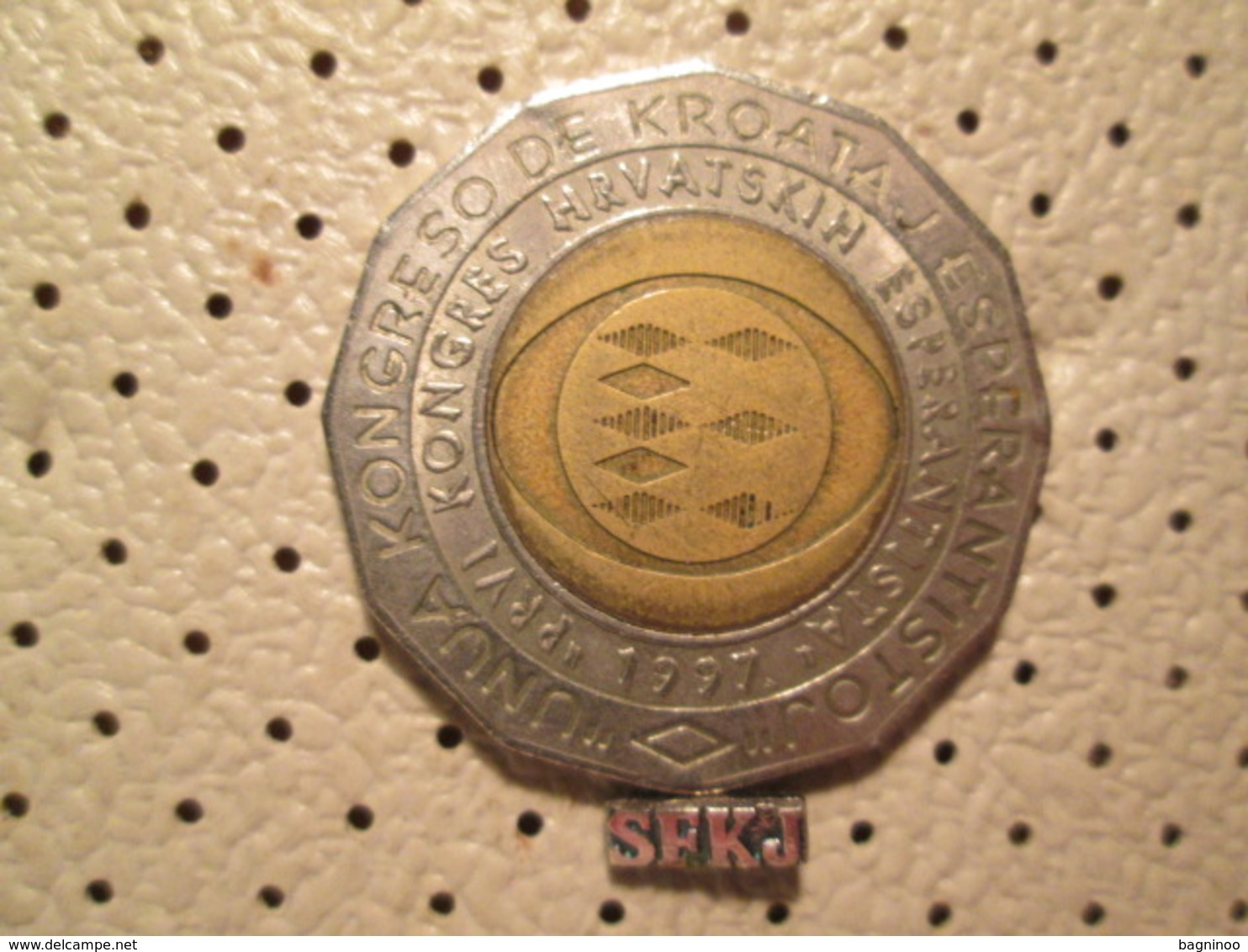 CROATIA 25 Kuna 1997 Bimetal First Congreso Esperantista # 4 - Croatia