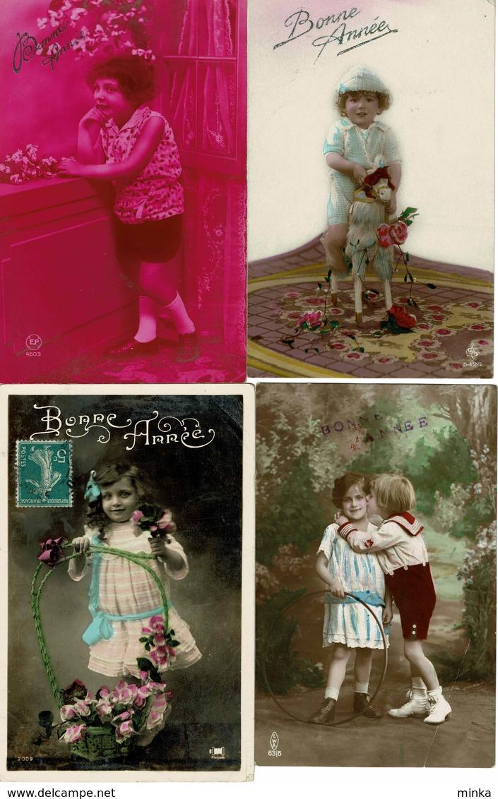 Lot Van 8 Fantasie Postkaarten - Bonne Annee - Gelukkig Nieuwjaar - Cartes Postales