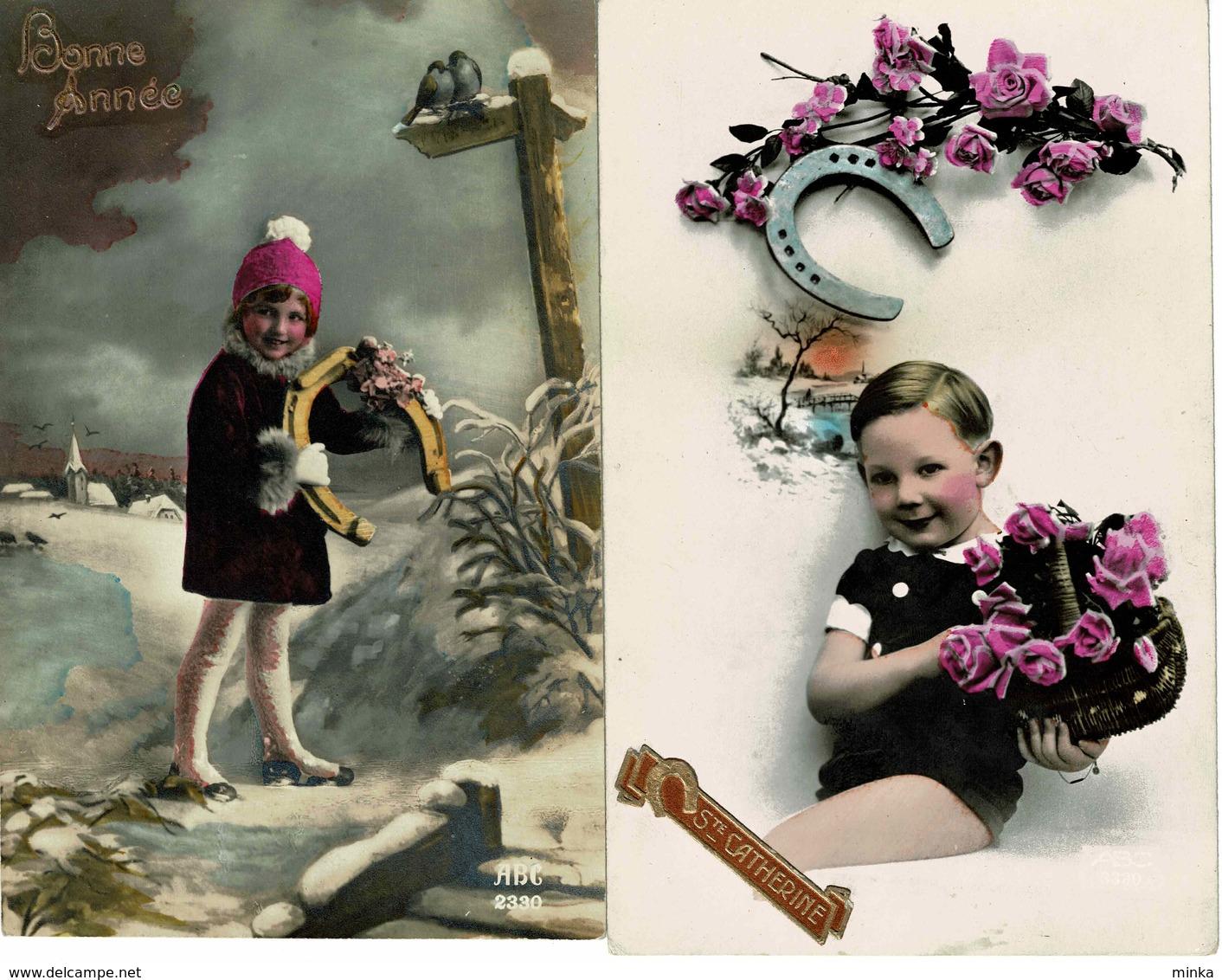 Lot Van 6 Fantasie Postkaarten - Hoefsmid Hoefijzer - Fer à Cheval - 5 - 99 Cartes