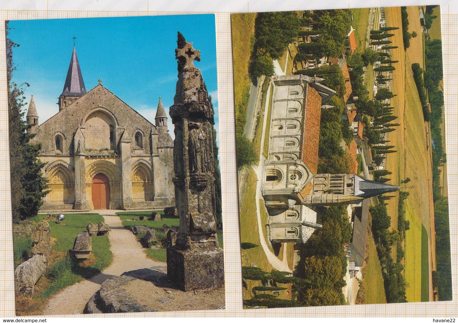 9AL5 ALNAY DE SAINTONGE EGLISE Lot De 5 Cartes   2SCANS - Aulnay