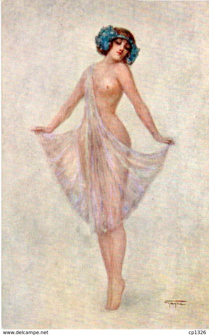 91Dch   Illustrateur Gayac Danseuse Femme Nue Sous Sa Nuisette - Illustrateurs & Photographes