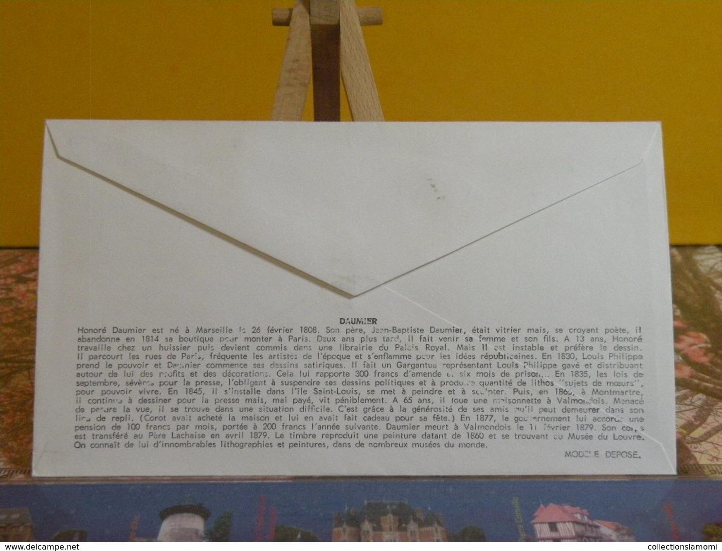 Honoré Daumier, Orgue De Barbarie (13) Marseille - 10.12.1966 FDC 1er Jour N°586 - Coté 2,20€ - FDC