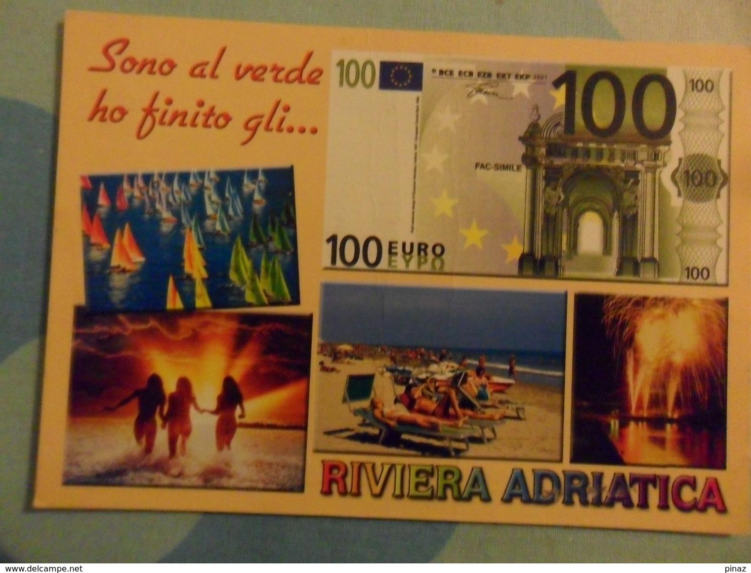 Cartolina Vedutine   RIMINI  Con PIN UP, Barche A Vela   VEDERE INGRANDIMENTO - Rimini