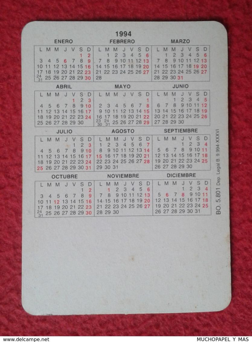 SPAIN CALENDARIO DE BOLSILLO CALENDAR 1994 OSOS PANDA OSO BEAR BEARS OURS BÄREN BÄR SIN PUBLICIDAD RARO RARE ESCASO VER - Tamaño Pequeño : 1991-00
