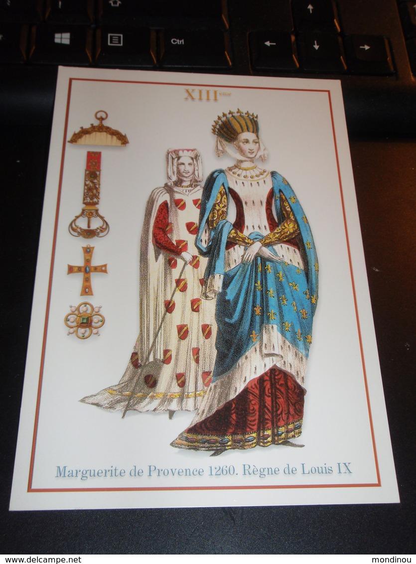Marguerite De Provence 1260. Règne De Louis IX. Belle Carte - Femmes Célèbres