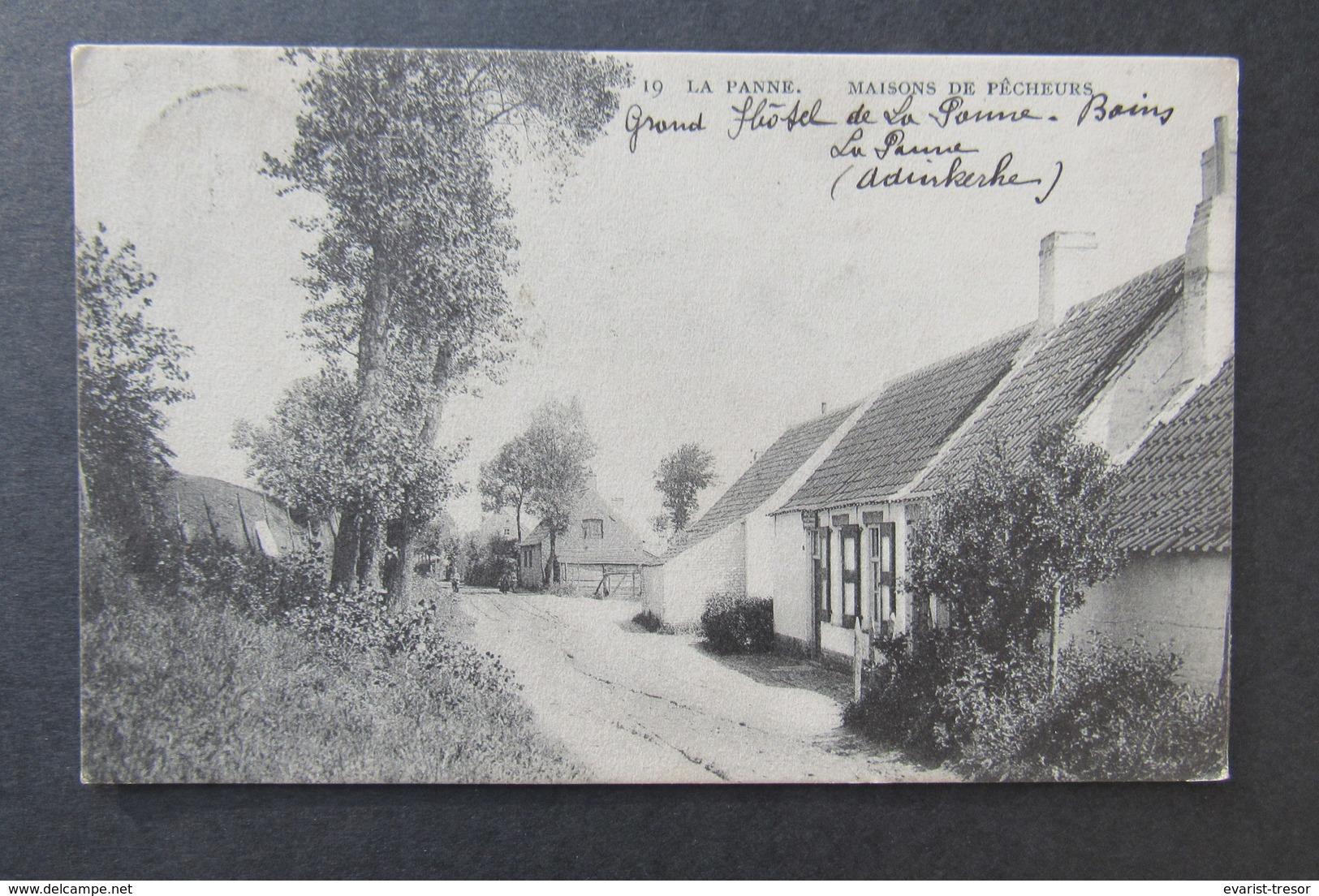 Cpa/pk La Panne De Panne Maisons De Pecheurs 1908 - De Panne
