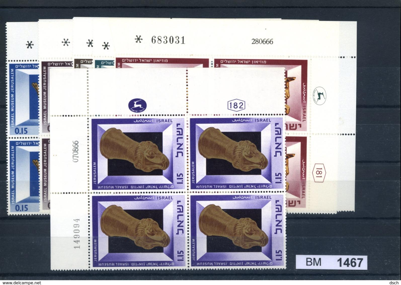 Israel, Xx, 371 - 376, 4- ErEckrandblöcke Rechts Oben - Ungebraucht (mit Tabs)