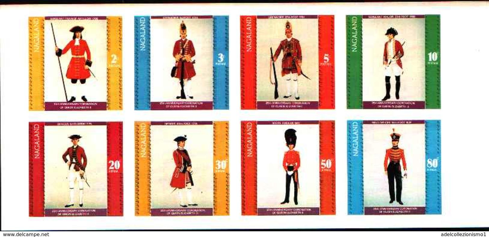 90494)  NAGALAND- UNIFORMI MILITARI NEI SECOLI- SOLDATI -MNH** SERIE NON DENTELLATA - Stamps