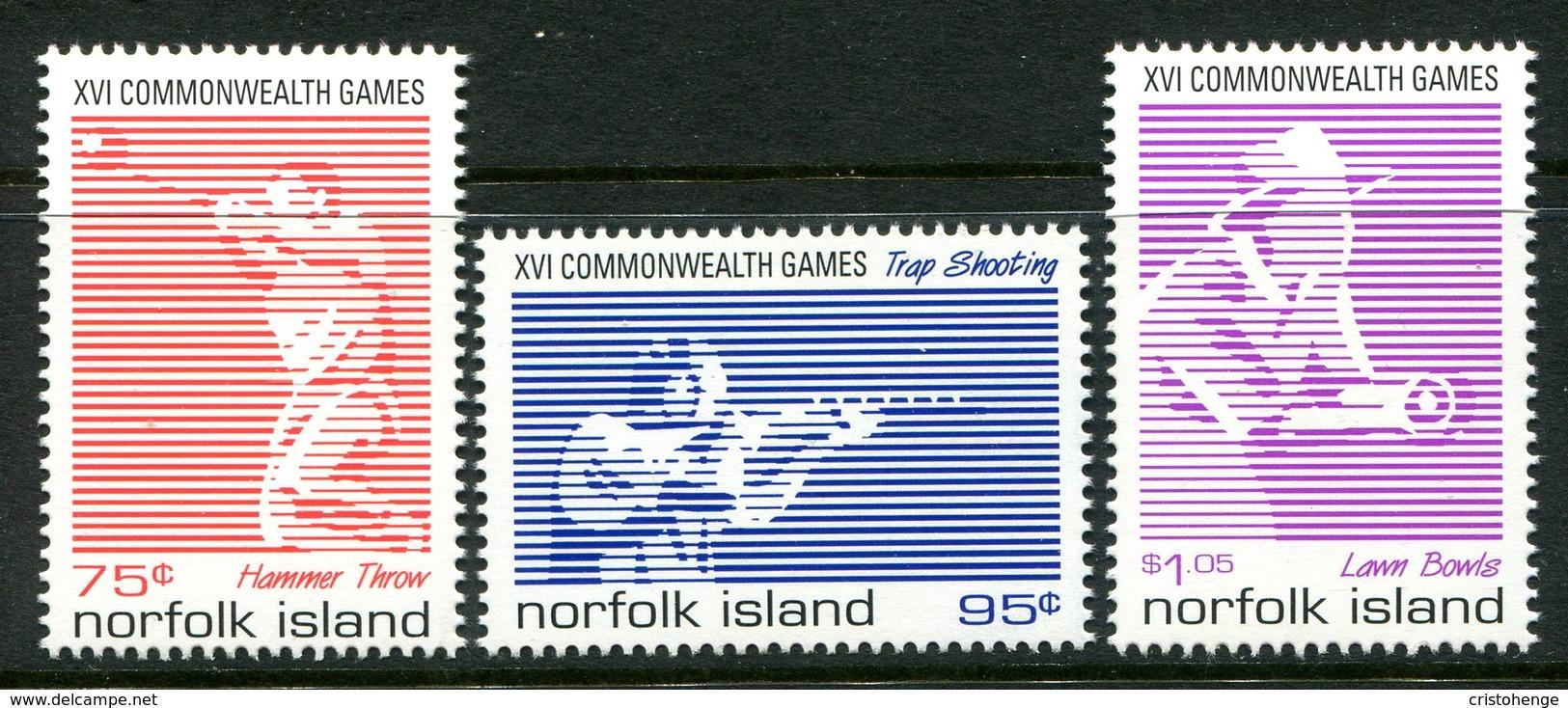 Norfolk Island 1998 Commonwealth Games, Kuala Lumpur Set MNH (SG 679-681) - Norfolk Island