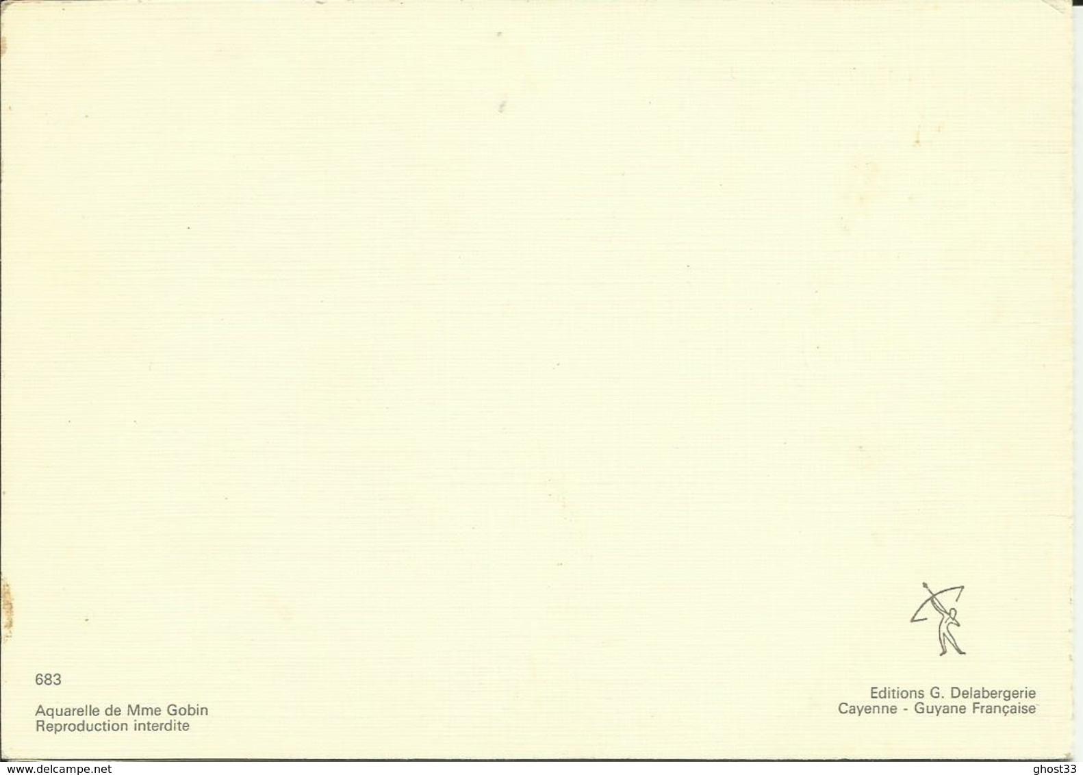 CARTE POSTALE PORTEFEUILLE - GUYANE - Maison Créole- Aquarelle - Editions G. DELABERGERIE - Autres