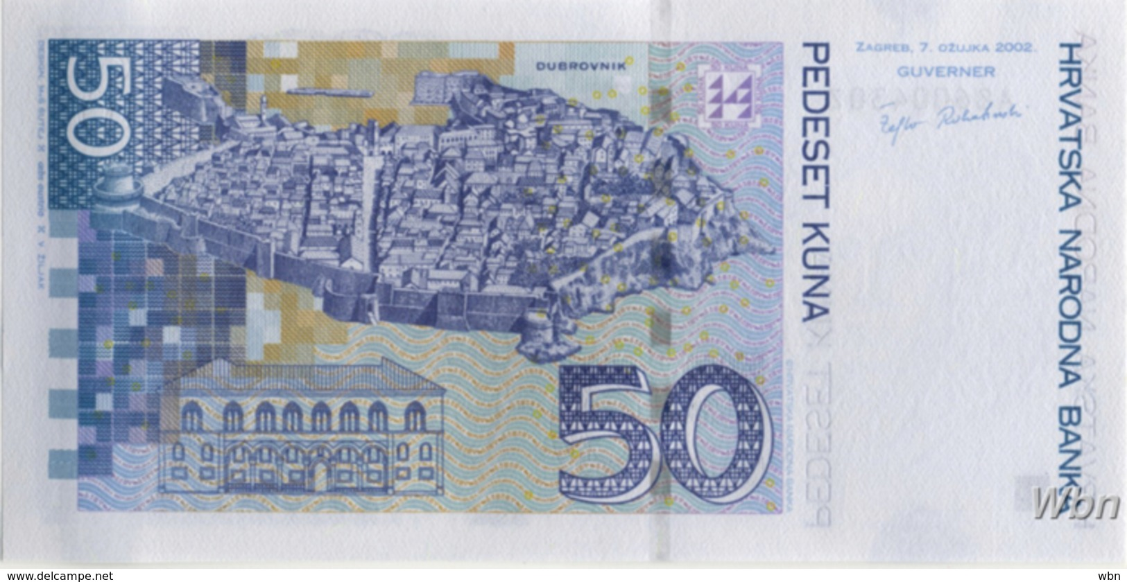 Croatie 50 Kuna (P40) 2002 -UNC- - Croatia