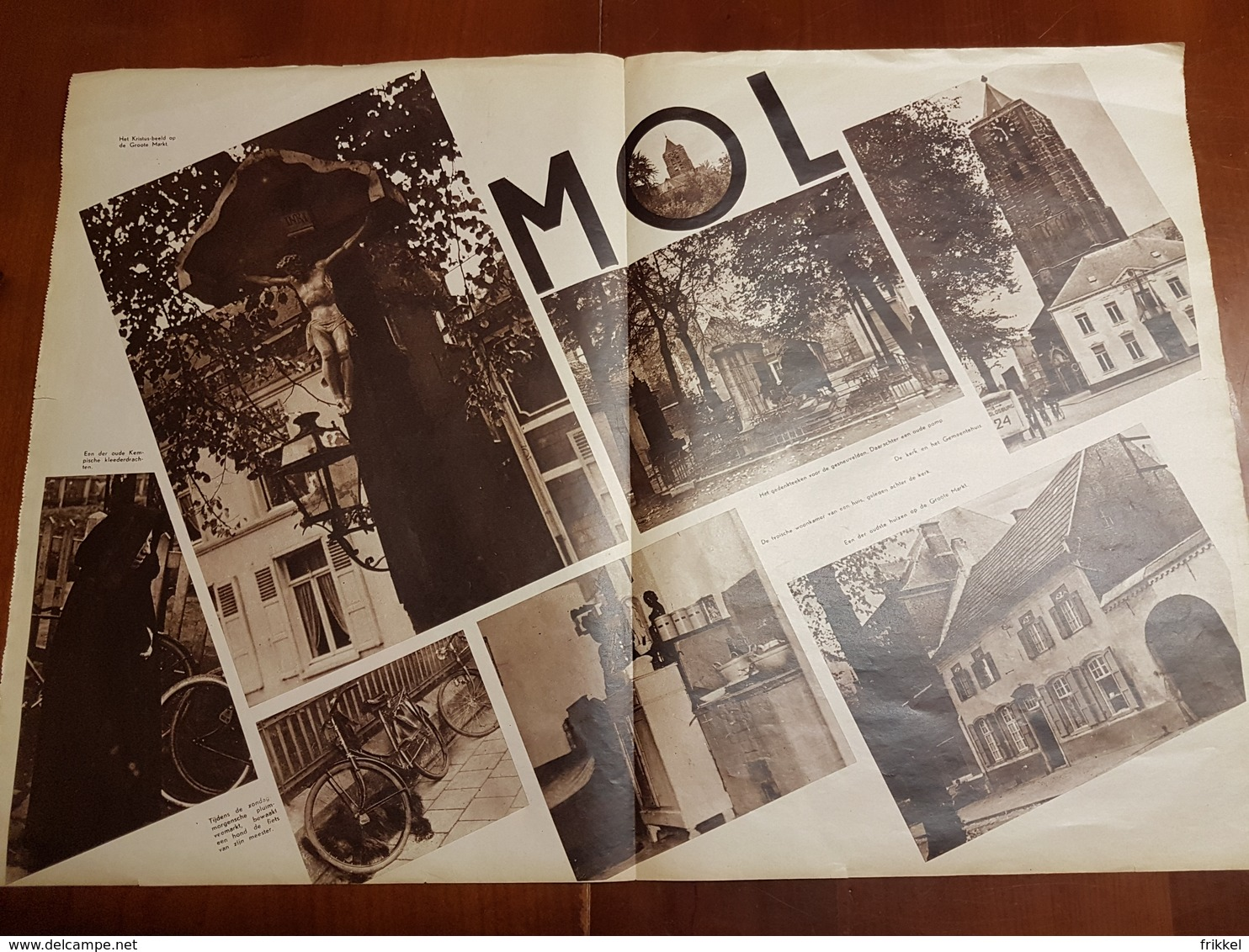 Mol : 2 Blz Uit Oud Tijdschrift: Ons Land 1935 - Mol