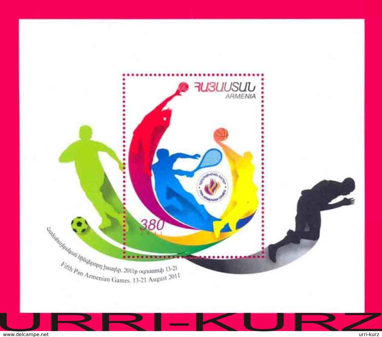 ARMENIA 2011 Sports Fifth Pan-Armenian Sport Games S-sheet Mi Bl.42(752) MNH - Armenia