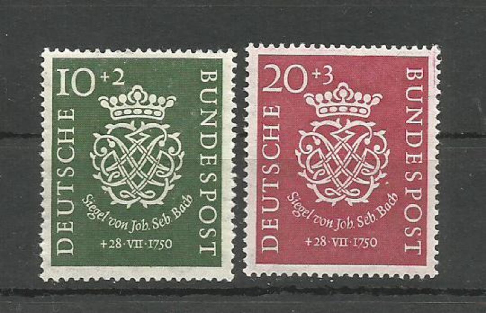 GERMANY DEUTSCHLAND 1950. 200th ANNIVERSARY JOHANN SEBASTIAN BACH UNUSED - Unused Stamps