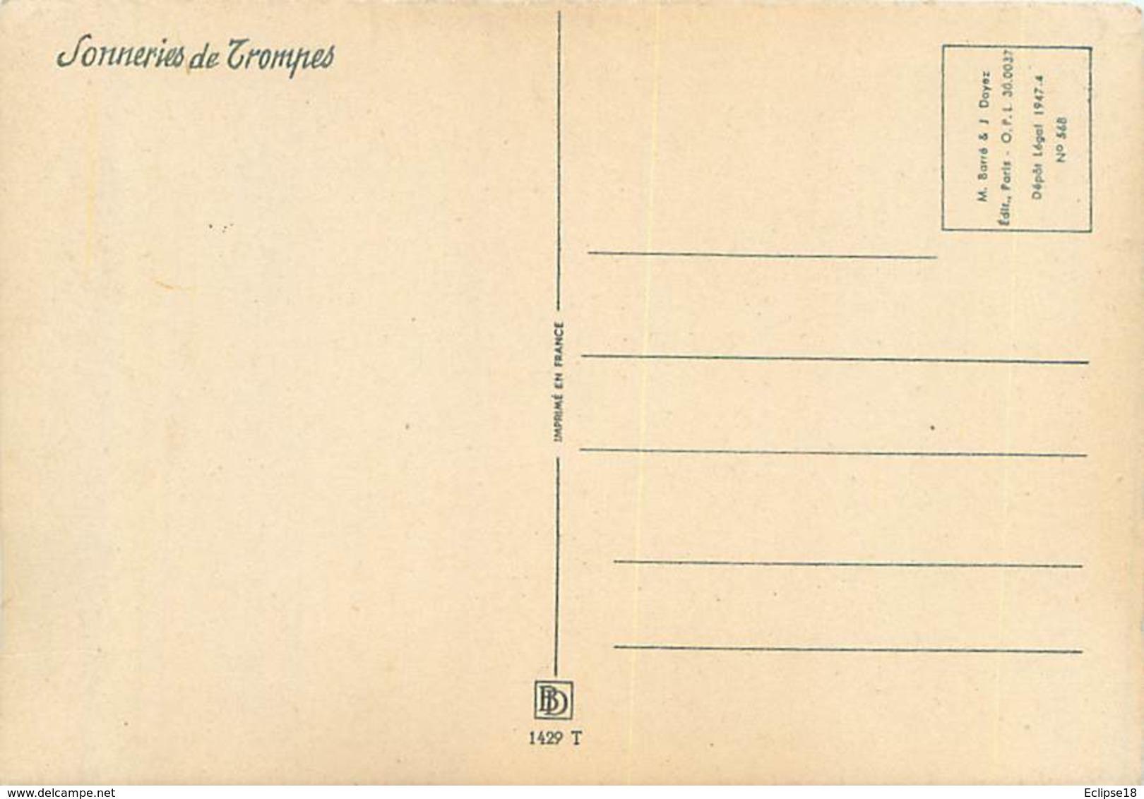 Illustrateur Barré Et Dayez 1429 T - Sonneries De Trompes  La St Hubert  Chasse Signé Jack Y 85 - Autres Illustrateurs
