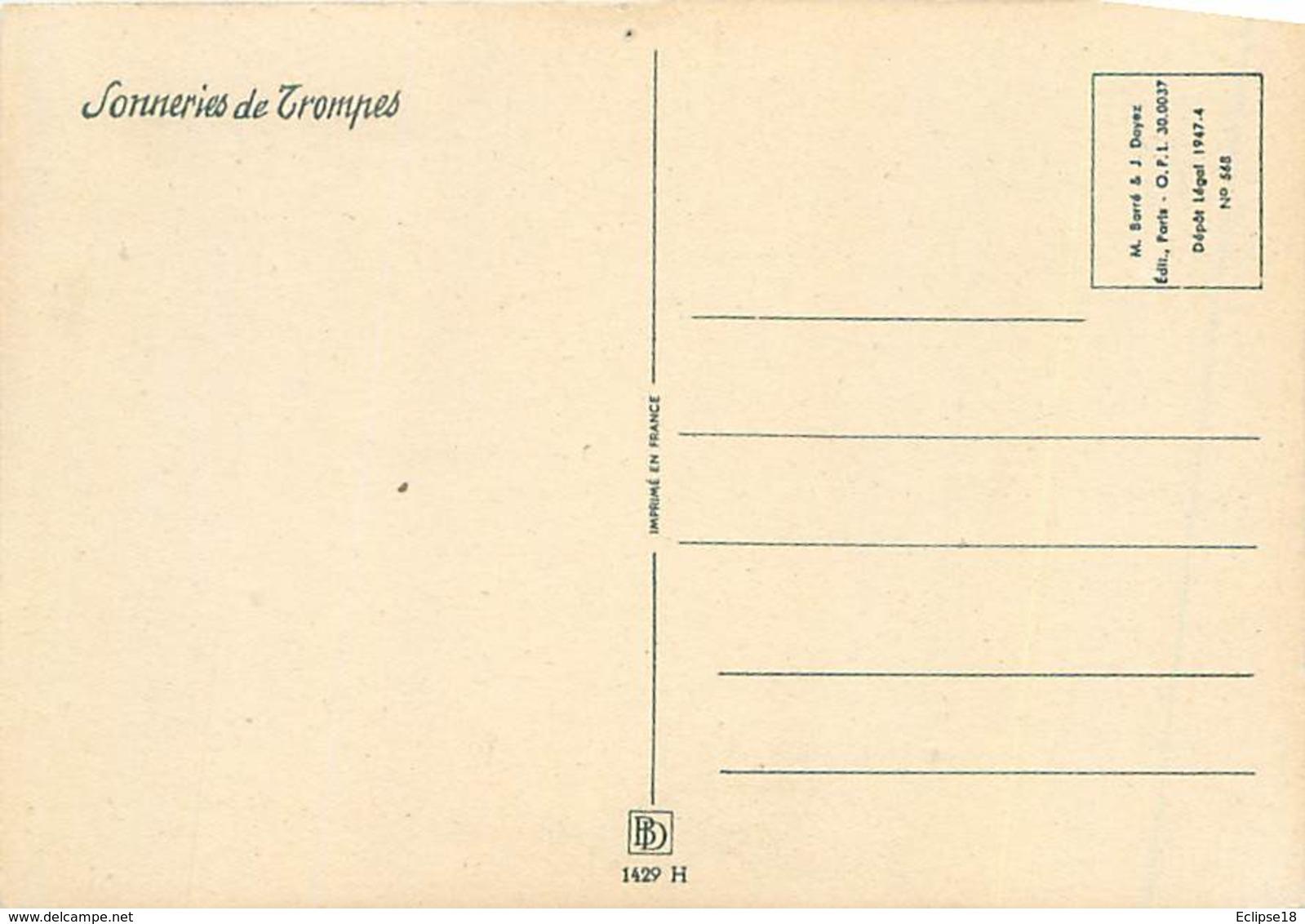 Illustrateur Barré Et Dayez 1429 H - Sonneries De Trompes  Houvari Chasse Signé Jack Y 86 - Illustrateurs & Photographes