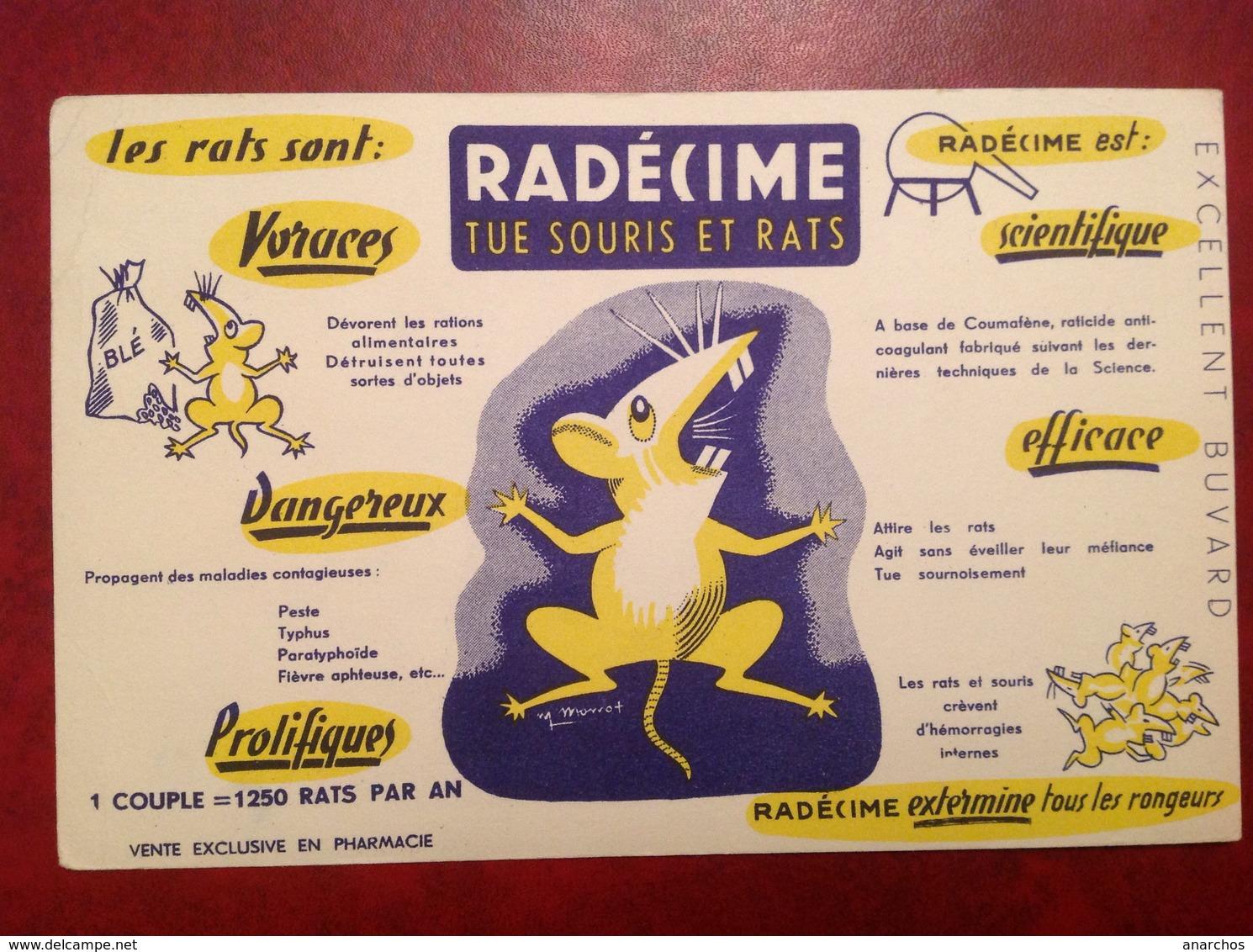 Buvard Publicité Radecime Tue Rat Souris - Animaux