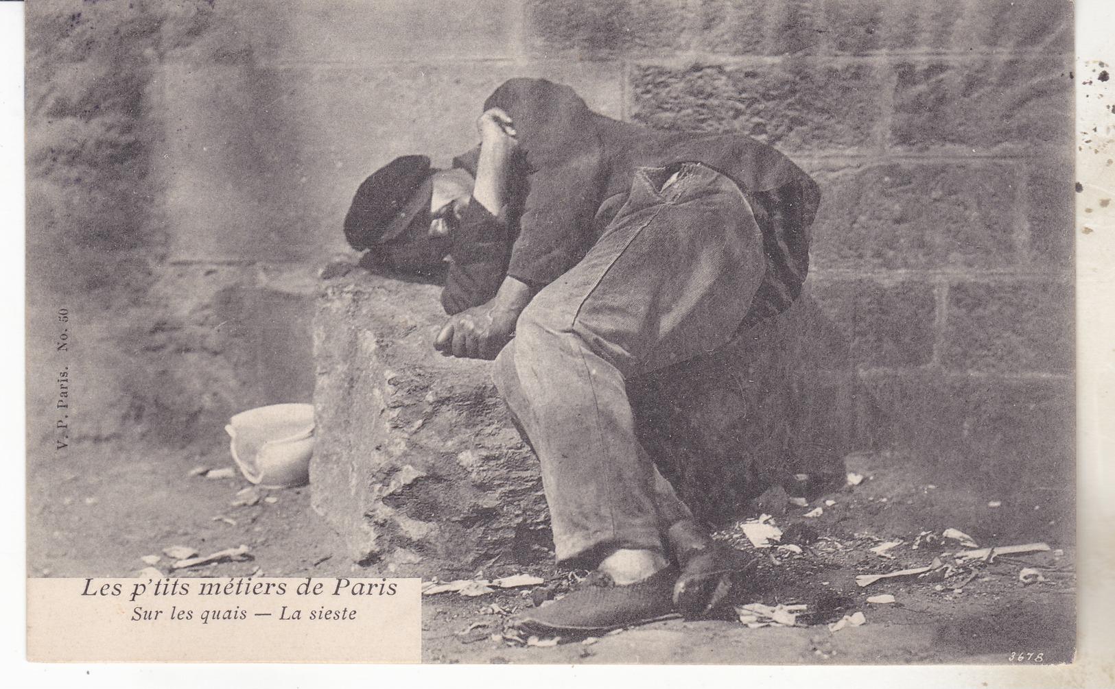 75 Paris - Les P'tits Métiers De Paris. Sur Les Quais, La Sieste.. Datée 1905, TB état. - France