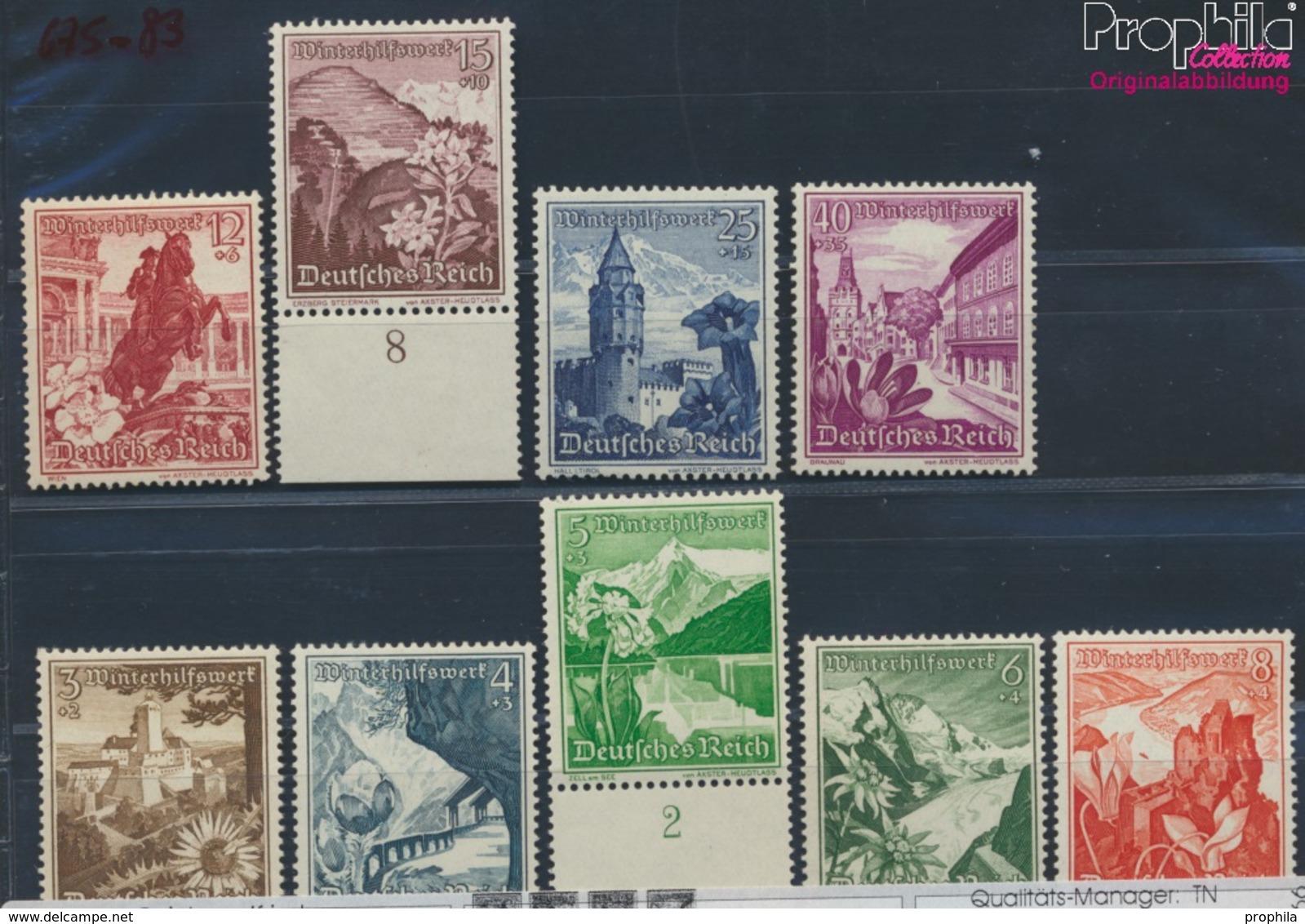 Deutsches Reich 675-683 (kompl.Ausg.) Postfrisch 1938 Winterhilfswerk (8669671 - Deutschland