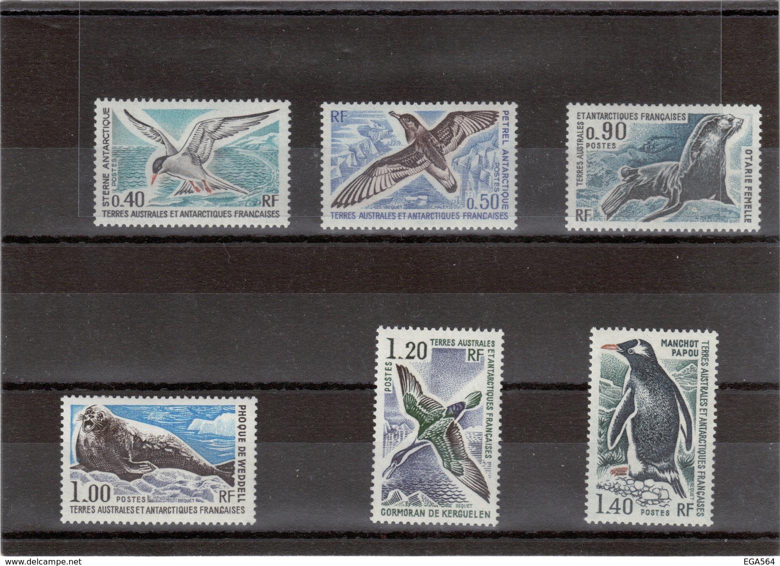V16 - TAAF - PO55/60 ** MNH De 1976 - Faune Antarctique  - OISEAUX Et MAMMIFERES MARINS - Cote 80,00 - Terres Australes Et Antarctiques Françaises (TAAF)