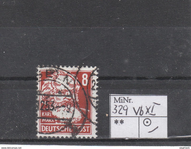 Deutschland DDR Gestempelt  329 VbXI  Karl Marx Geprüft Schönherr Katalog 8,50 - DDR