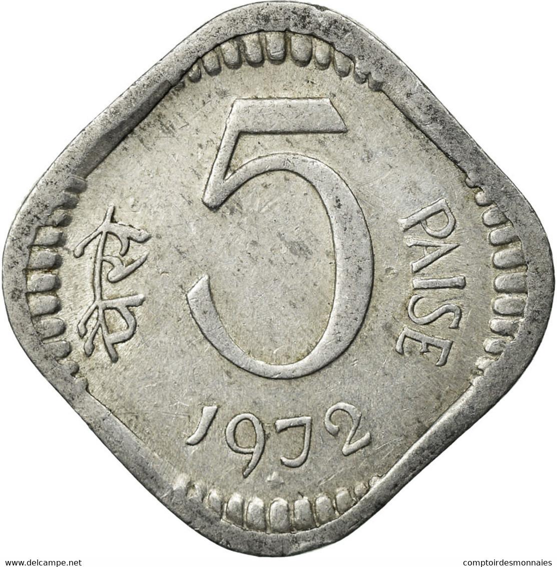 Monnaie, INDIA-REPUBLIC, 5 Paise, 1972, Hyderabad, TTB, Aluminium, KM:18.4 - Inde