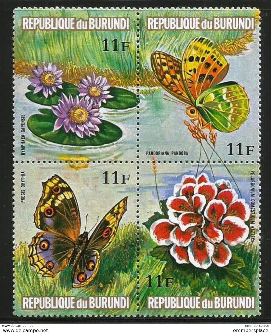 Burundi - 1973 Flowers & Butterflies 11f Block MNH **   Sc 440 - Burundi