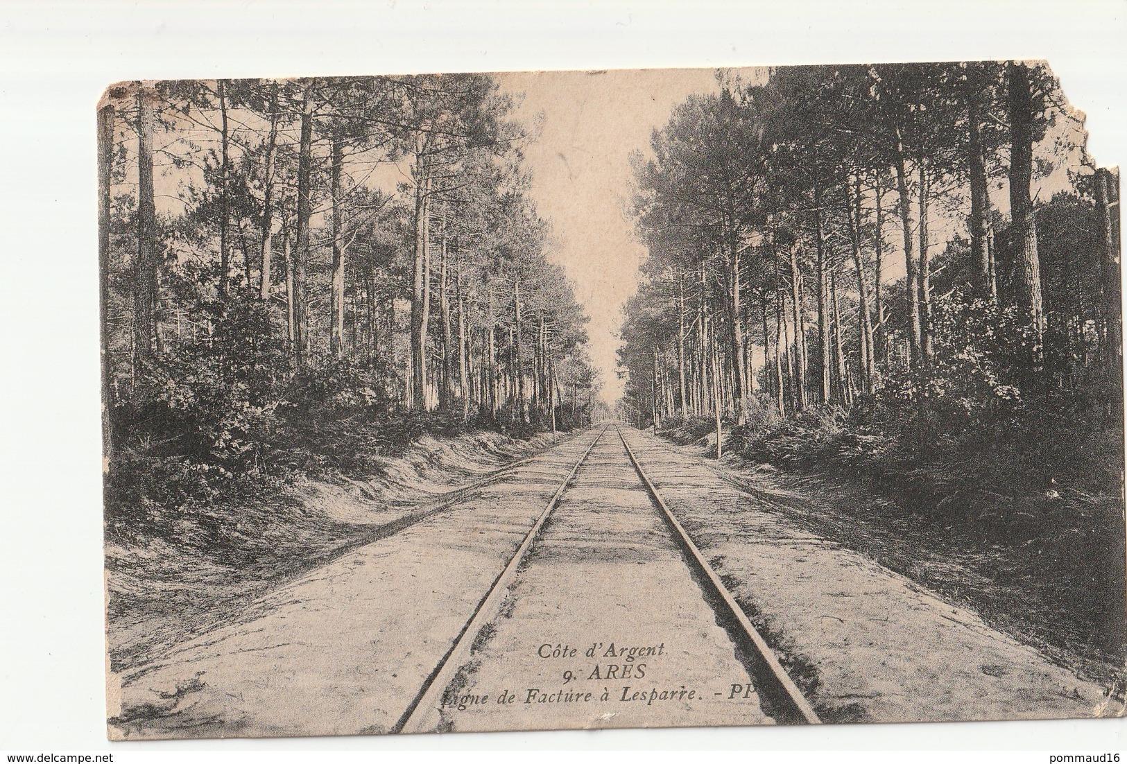 CPA Arès Ligne De Facture à Lesparre - Ferrovie