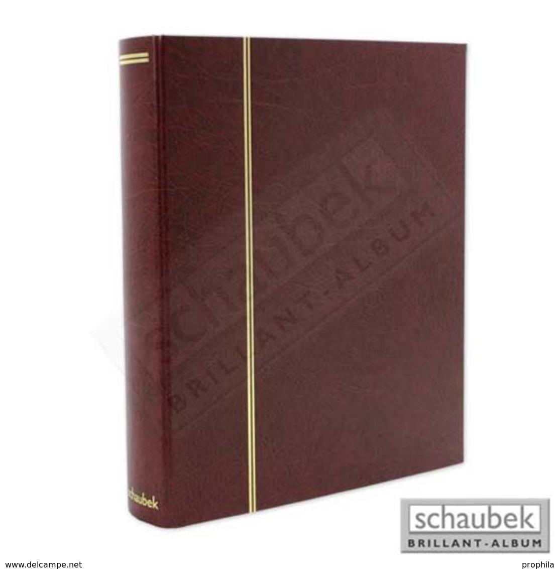 Schaubek Rb-1131 Universal-Folienblattalbum Attaché Für Postkarten. Mit 20 Blatt Fo-113 Für Je 4 Postkarten Rot - Klemmbinder