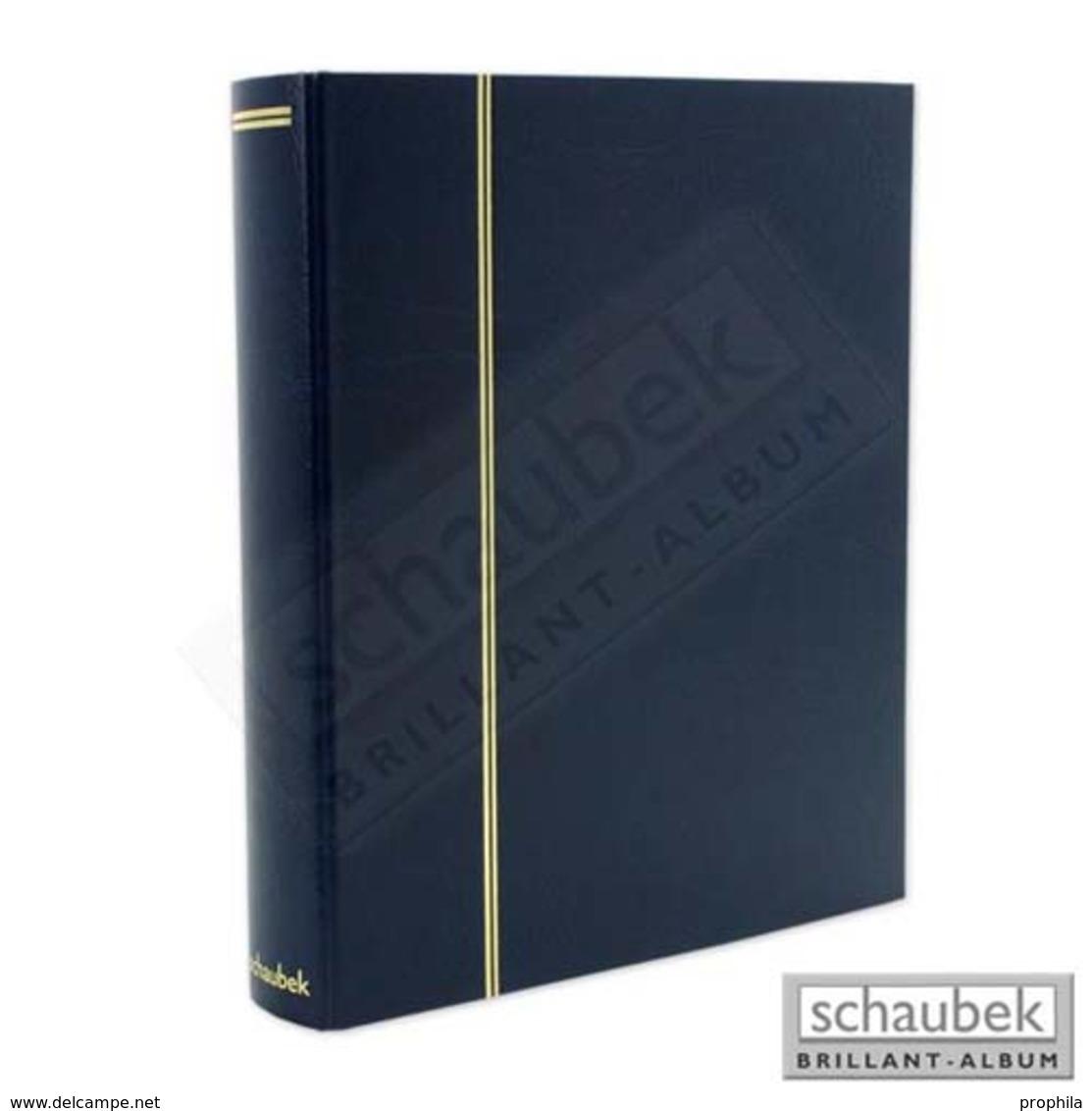 Schaubek Scrb-1133 Album Pour Cartes Postales Universal, Reliure Attaché, Avec 20 Feuilles Fo-113 Pour CP Bleue - Groß, Grund Schwarz