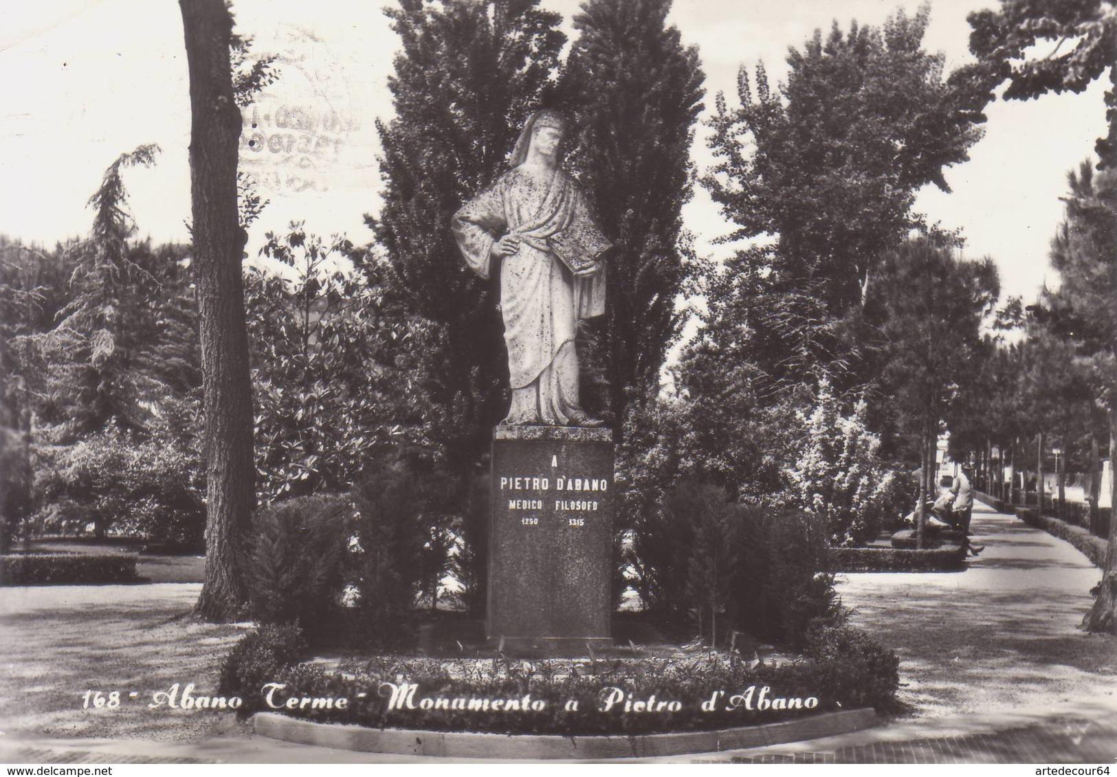 Abano Terme ( Padova )   -  Monumento A Pietro D'abano  -  Viaggiata - Padova (Padua)