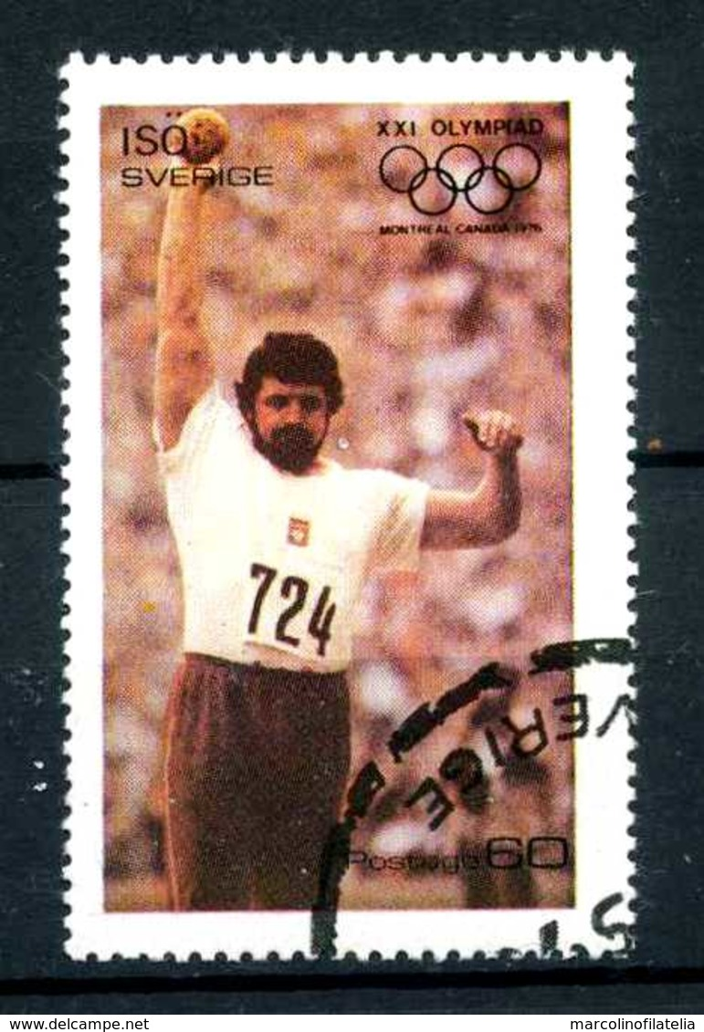SVEZIA - SVERIGE - Year 1976 - ATLETICS - SLOT PUT - Usato - Used - Utilisè - Gebraucht.- - Estate 1976: Montreal