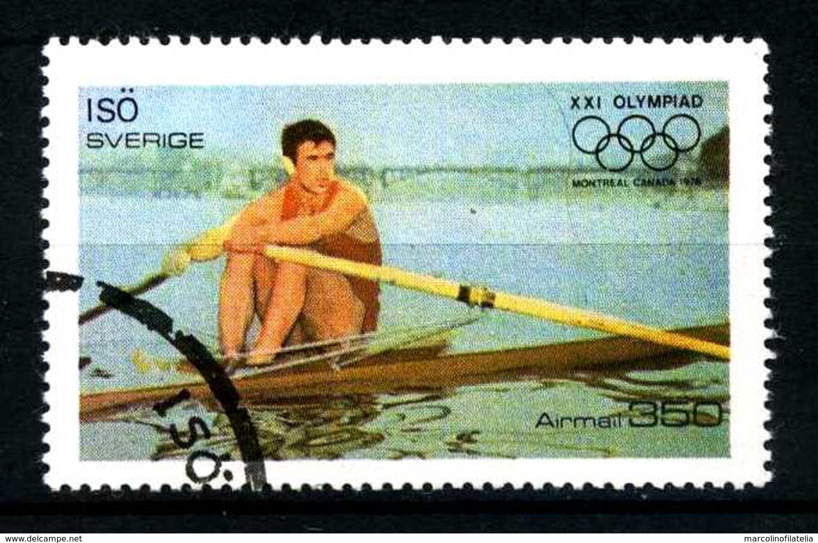 SVEZIA - SVERIGE - Year 1976 - ATLETICS - BOATING - AIRMAIL - Usato - Used - Utilisè - Gebraucht.- - Estate 1976: Montreal