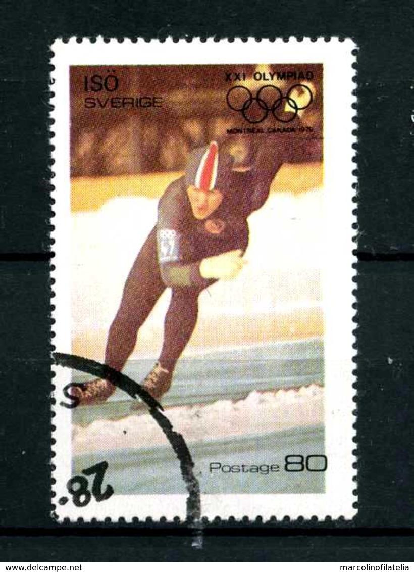 SVEZIA - SVERIGE - Year 1976 - ATLETICS - SPEED SKATING - Usato - Used - Utilisè - Gebraucht.- - Estate 1976: Montreal