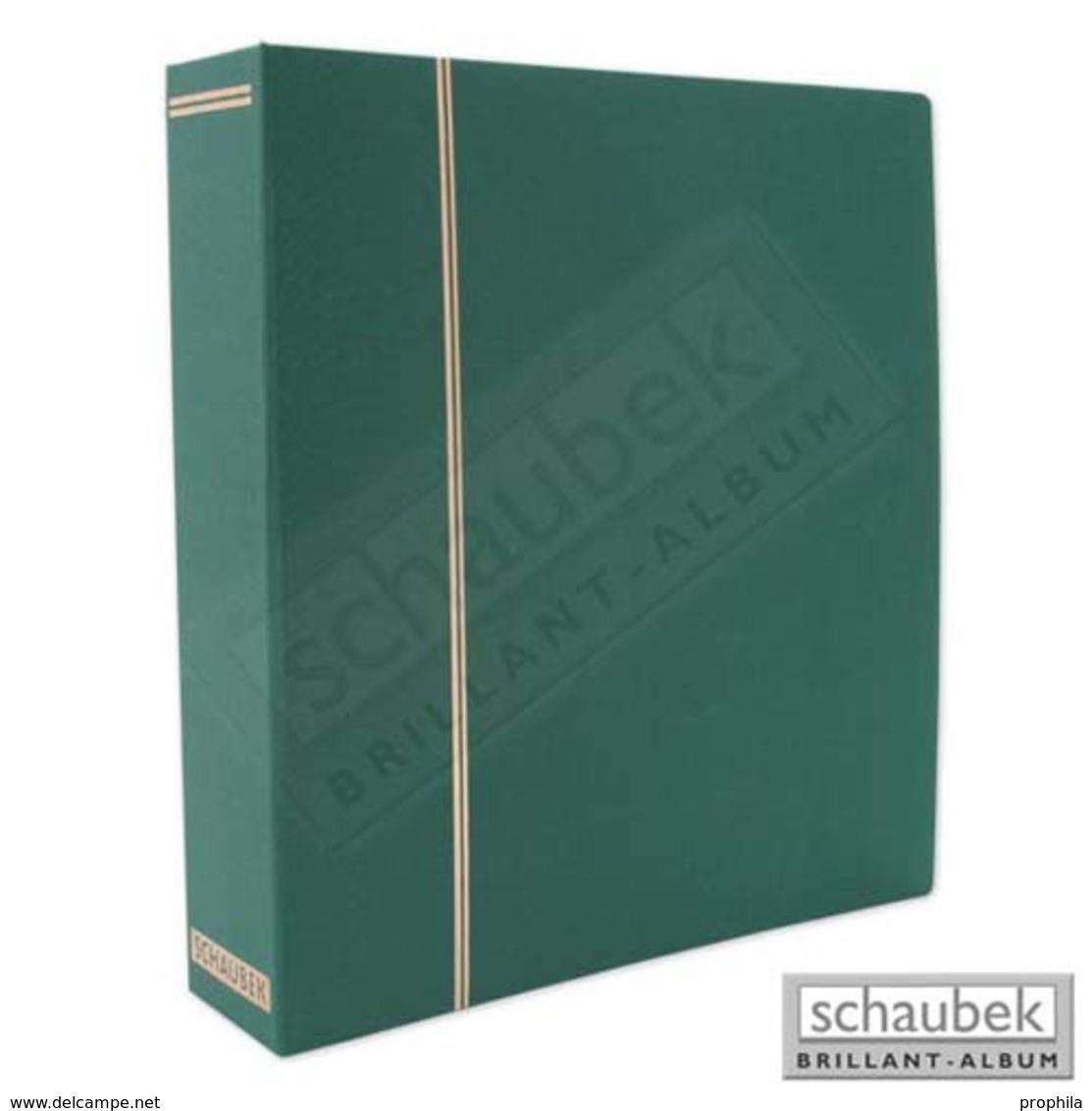 Schaubek DS100/4 Ganzleinen-Schraubbinder, Grün, Mit 40 Blanko- Blättern Bb100 - Groß, Grund Schwarz