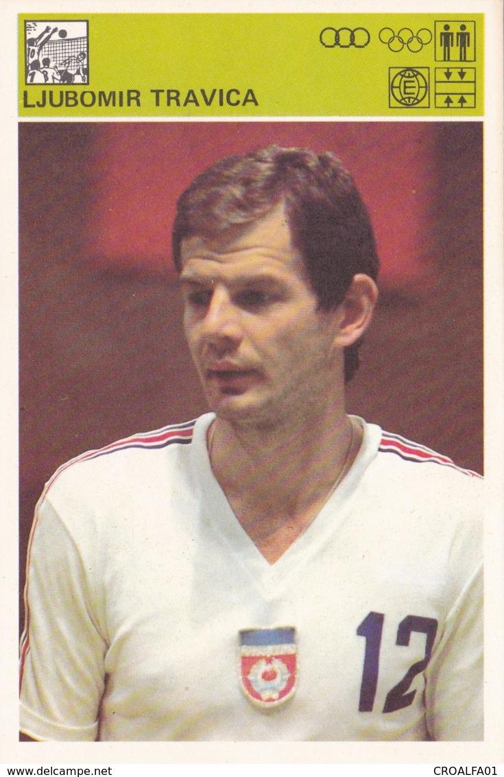 LJUBOMIR TRAVICA,SVIJET SPORTA VOLLEYBALL CARD - Volleyball