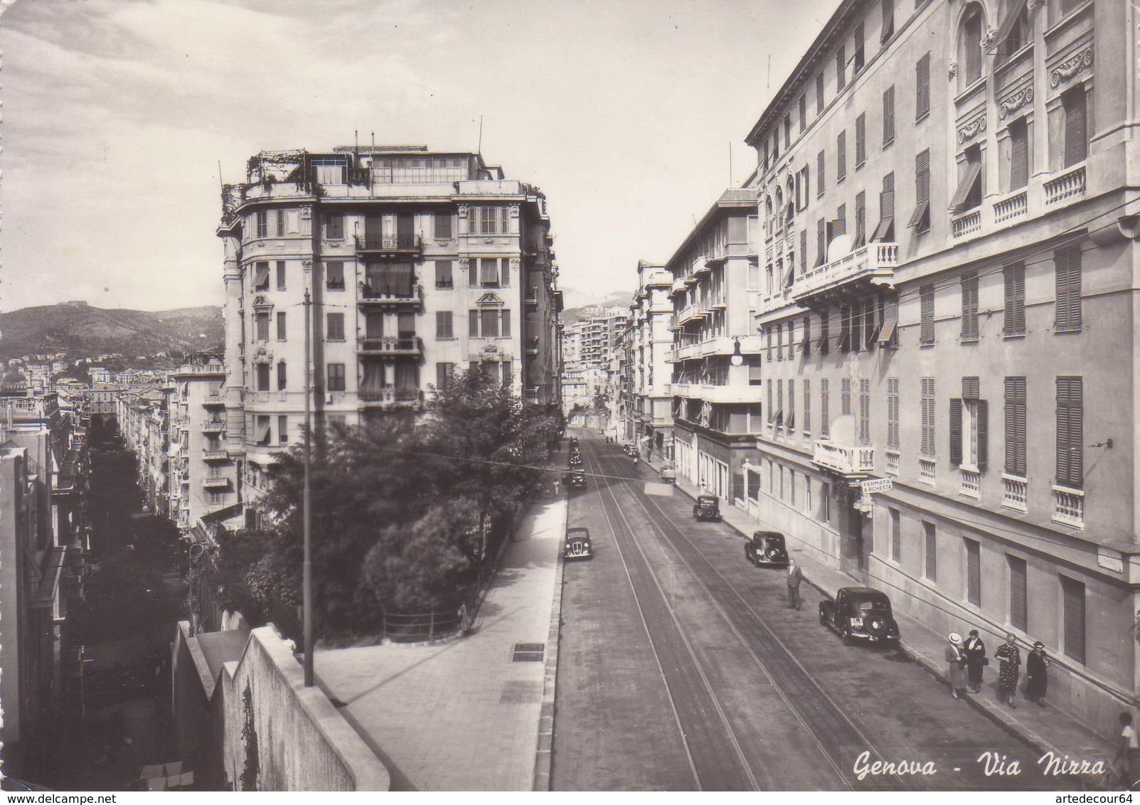 Genova   - Via Nizza  -  Viaggiata - Genova (Genoa)