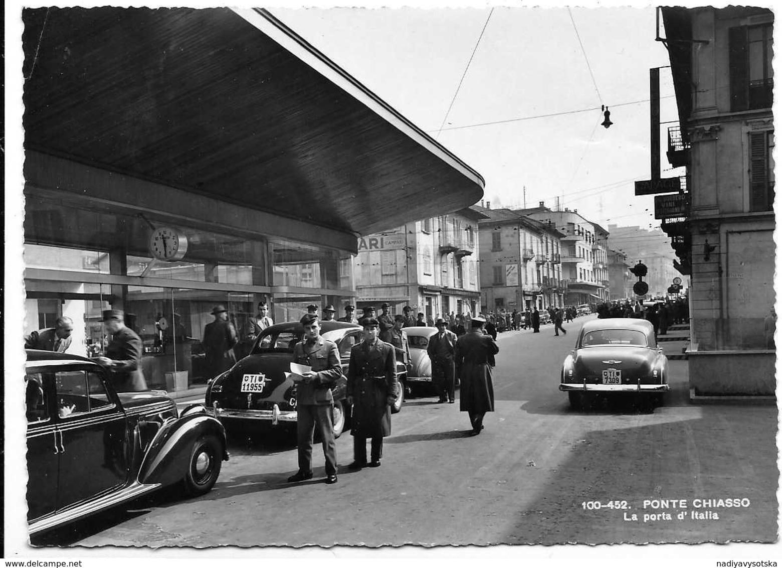 Ponte Chiasso (Como). La Porta D'Italia. Frontiera. Auto, Car, Voitures. - Como