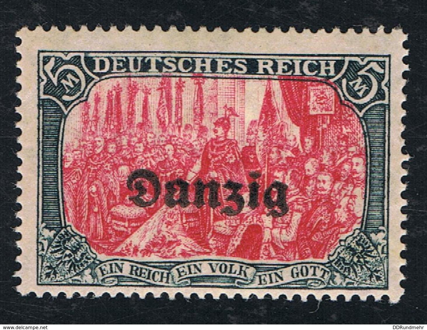 1920 Danzig Freim. Mi DA 17  Sn DA 17 Yt DA 17  AFA DA 17 Pol DA 17 Postfr. Xx - Deutschland
