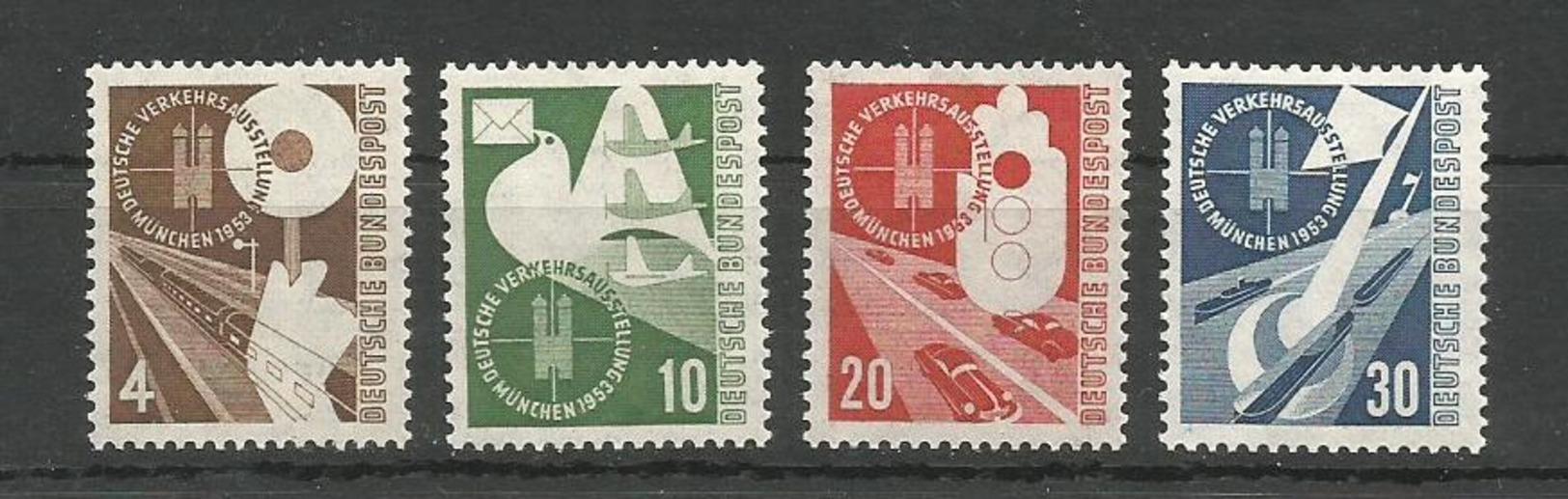 GERMANY DEUTSCHLAND 1953 TRANSPORT EXHIBITION MUNICH UNUSED - Unused Stamps