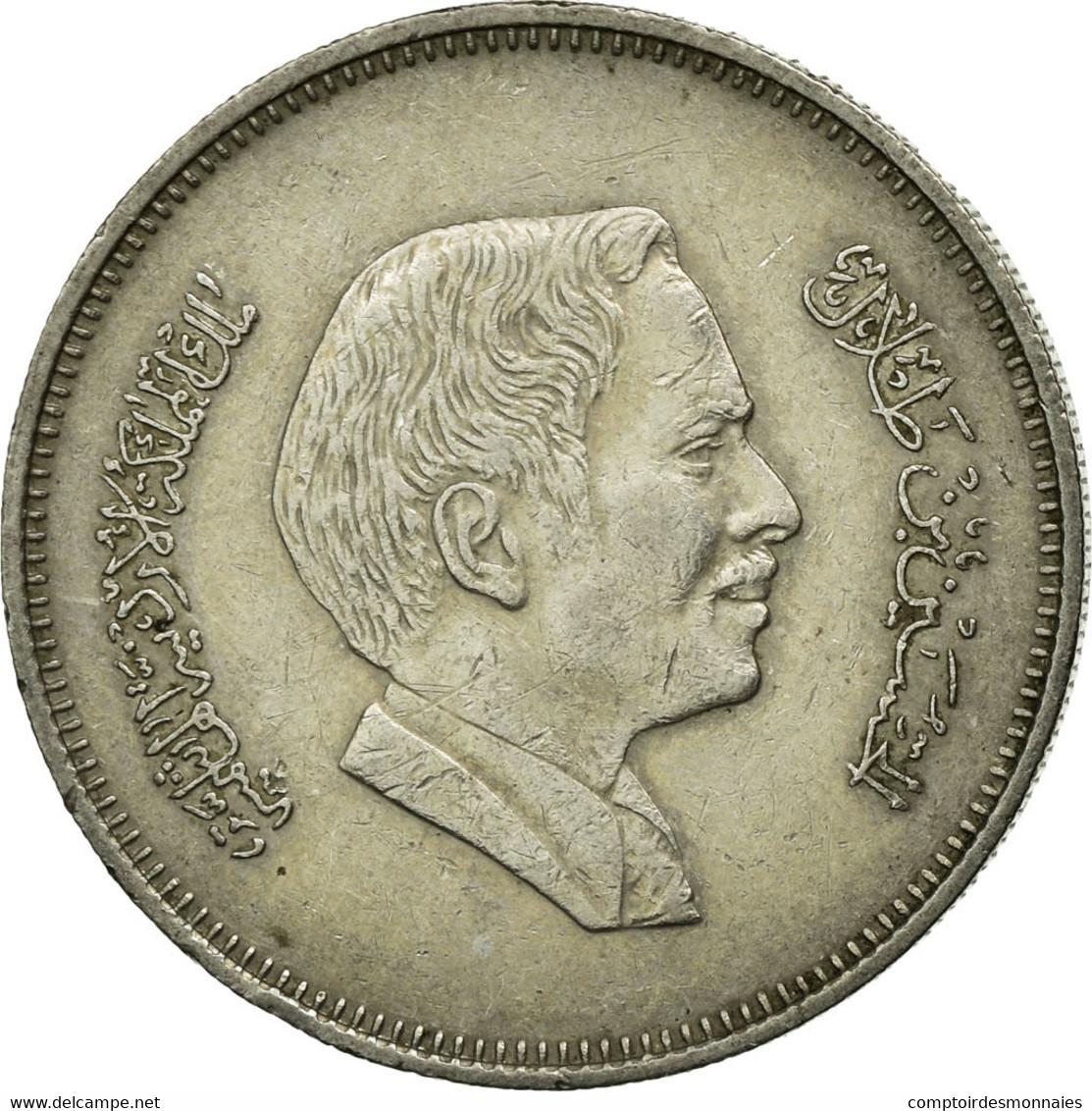 Monnaie, Jordan, Hussein, 50 Fils, 1/2 Dirham, 1984, TTB+, Copper-nickel, KM:39 - Jordanie
