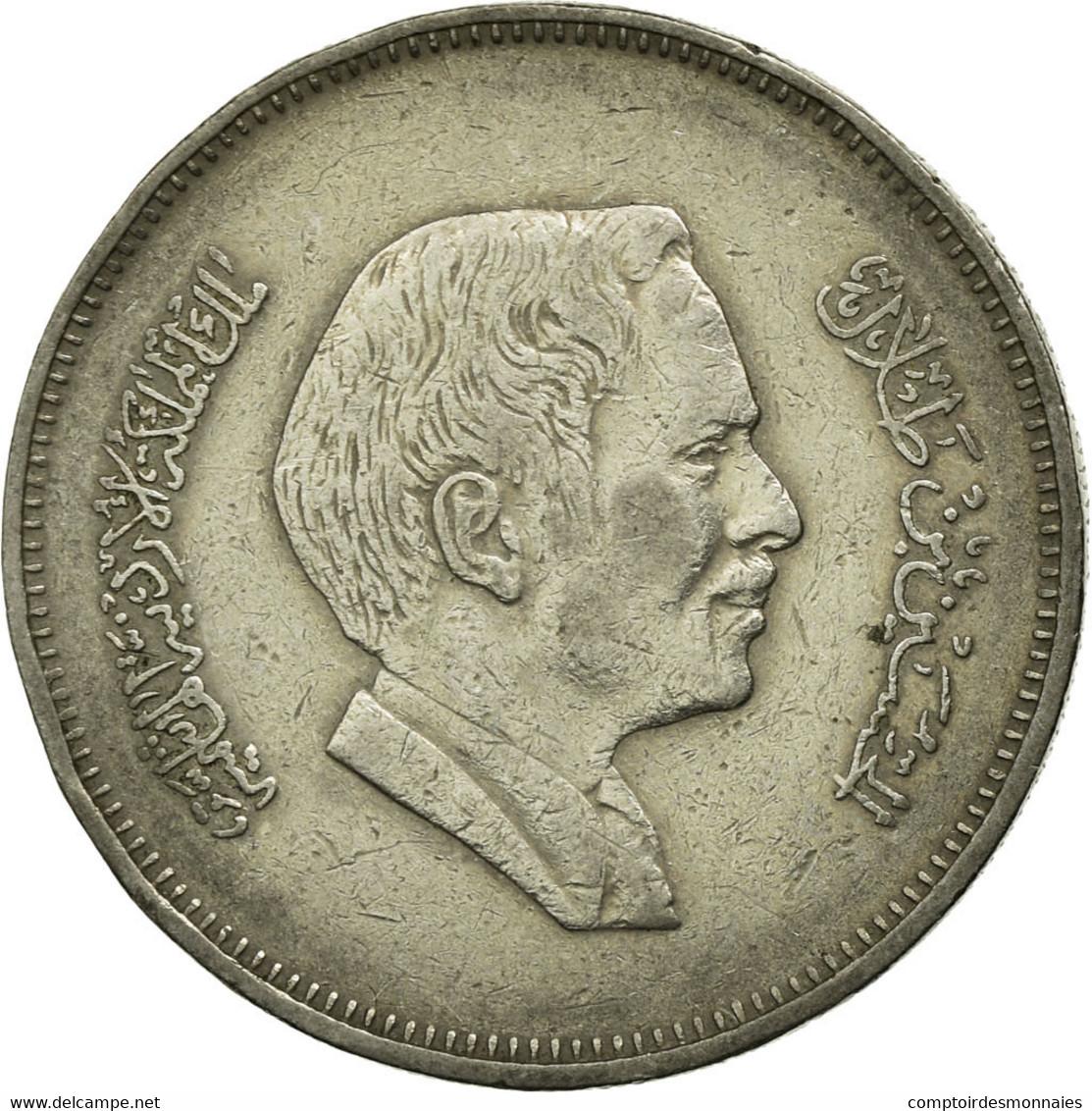 Monnaie, Jordan, Hussein, 50 Fils, 1/2 Dirham, 1984, TTB, Copper-nickel, KM:39 - Jordanie