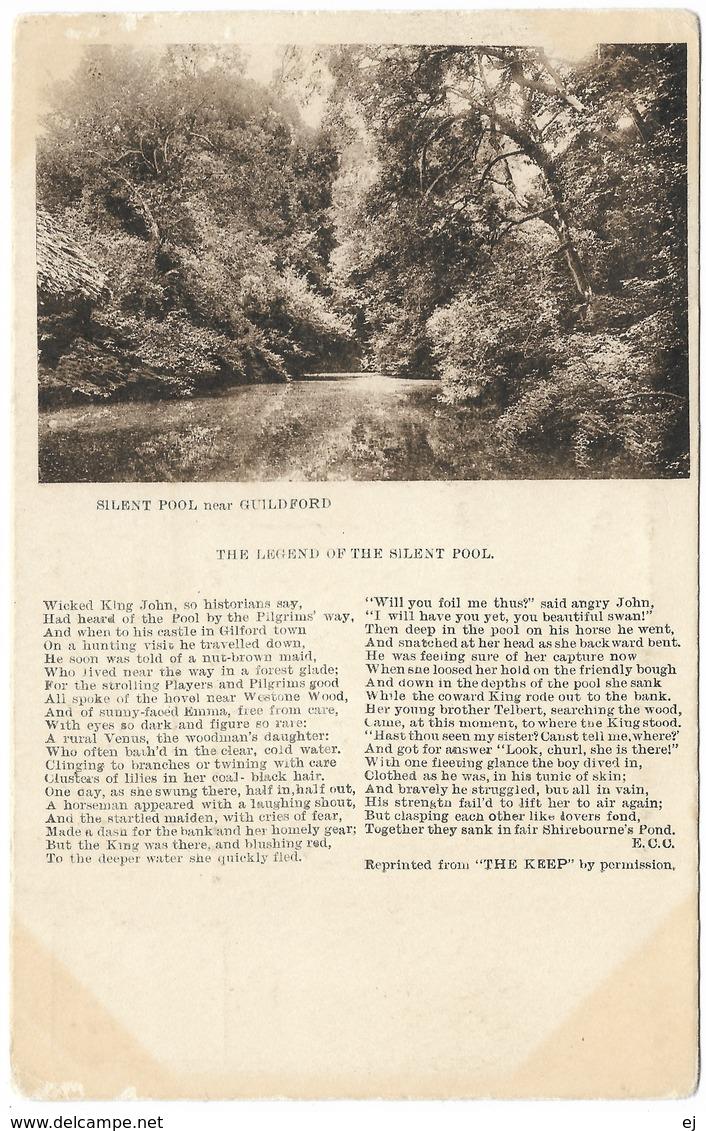 Silent Pool Near Guildford Legend Unused C1918 - Frith - Surrey