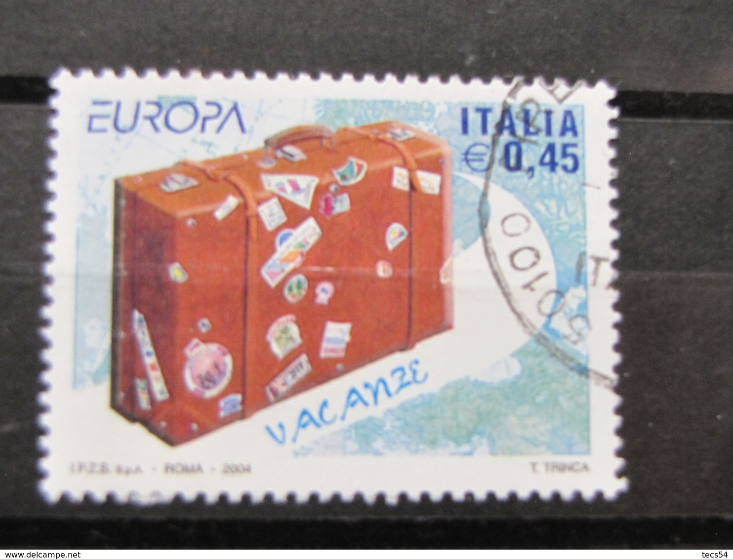 *ITALIA* USATI 2004 - EUROPA 2004 VACANZE - SASSONE 2762 - LUSSO/FIOR DI STAMPA - 6. 1946-.. Repubblica