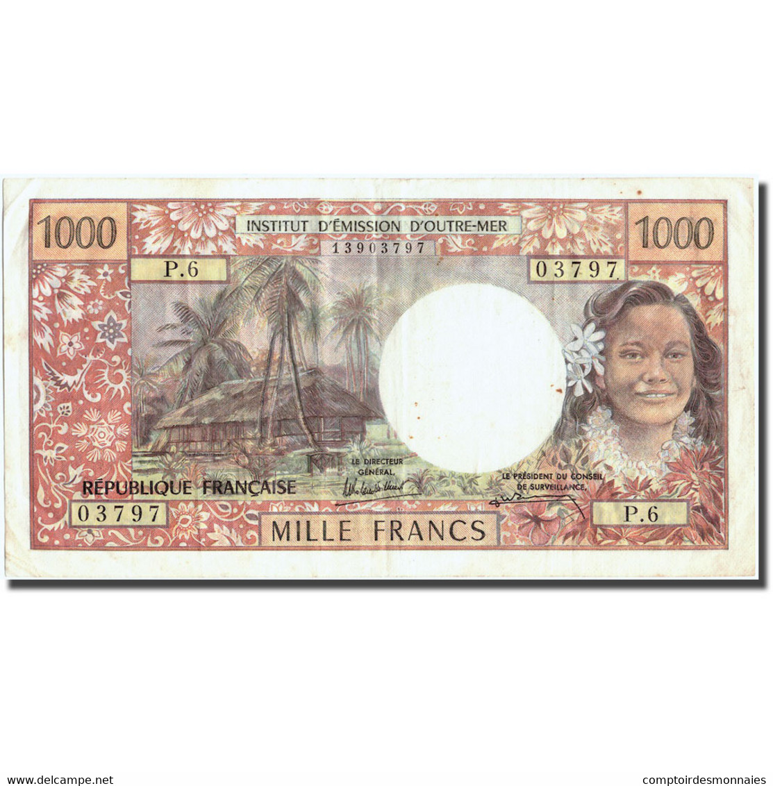 Billet, Tahiti, 1000 Francs, Undated (1985), KM:27d, SUP - Papeete (French Polynesia 1914-1985)