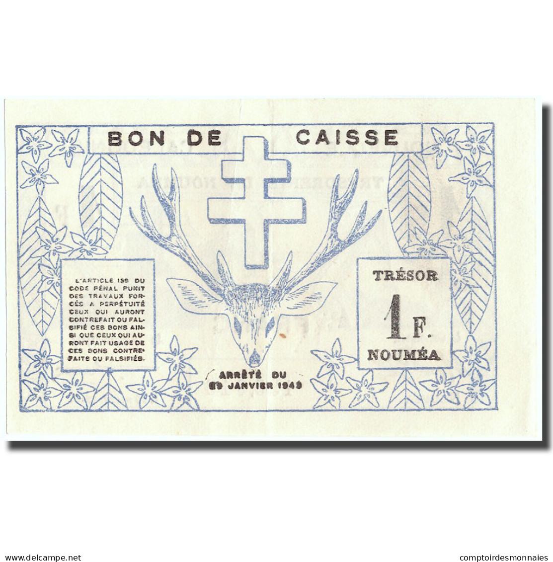 Billet, Nouvelle-Calédonie, 1 Franc, 1943, 1943-03-29, KM:55a, SUP+ - Nouméa (New Caledonia 1873-1985)