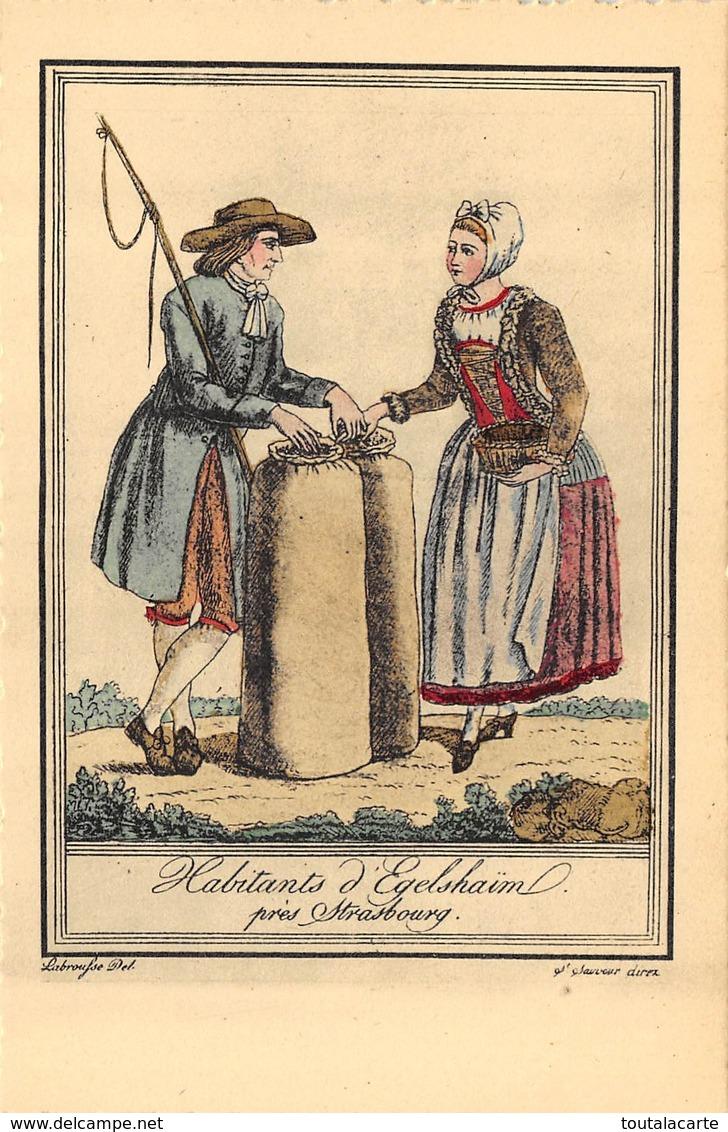 RARE LOT DE 6 CARTES CONCERNANT LES ANCIENS COSTUMES ALSACE COLORIEES A LA MAIN CARTE TRADITIO - Cartes Postales