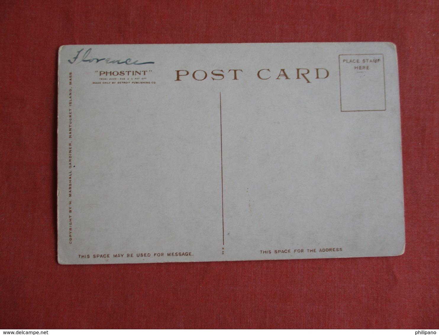 Stone Alley  Massachusetts > Nantucket   Detroit Publisher     Ref 3141 - Nantucket