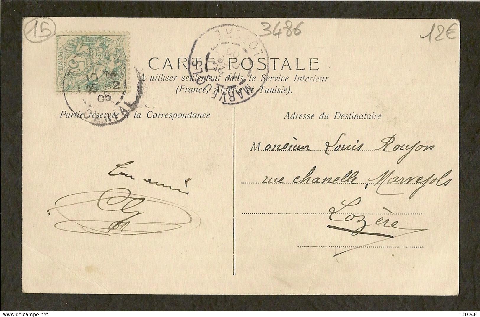 CP-St-FLOUR-CANTAL - La Gare - Saint Flour